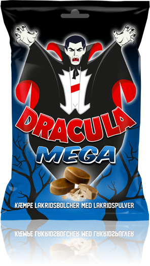 Dracula MEGA - Lakridsbolcher fyldt med lakridspulver